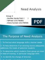 1st Presentation Need Analysis