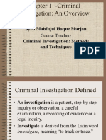 Basics of Criminal Investigations