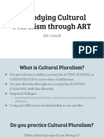 embodying cultural pluralism through art