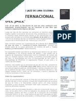 Nota de Prensa-clausura-festival Jazz Lima 2016