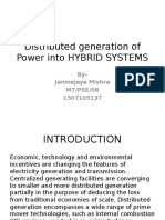 Distributed Generation of Power Into HYBRID SYSTEMS
