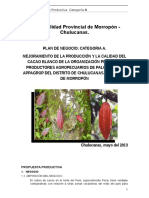 Plan Procompite Cacao Chulucanas