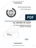 CIA OIG Audit Independent Contractors
