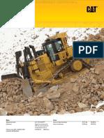 Catalogo Bulldozer Tractor Cadenas Topador d10t2 Caterpillar Caracteristicas Especificaciones Tecnicas