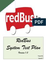 Red Bus Test Plan