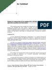 Comparación modelos ISO y EFQM