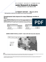 Oklahoma unemployment March 2016