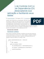 Inversão de Controle (IoC) e Injeção de Dependência (DI) No C#