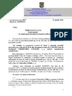 Propunere Arestare Chereches Catalin Anonimizat