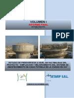 Informe final del Estudio de factibilidad del proyecto de agua pótable para la ciuda de Ica en Peru