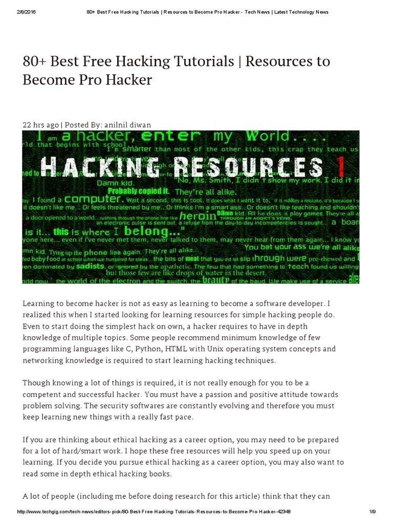 80+ best free hacking tutorials _ resources to become pro hacker