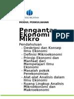 Modul Pengantar Ekonomi Mikro [TM1]