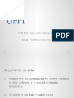 UFPI 2015.1 IMC Tema 3 Falsificacionismo