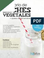 Recetario de leches vegetales