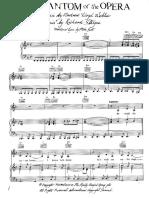 Partitura Temas do filme fantasma da Opera