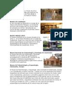 INFORMACION DE MUSEOS DE GUATEMALA
