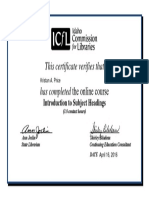 kprice-certificate-icfl intro to subject headings