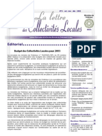 Lettre des Collectivites Locales No 8 Francais