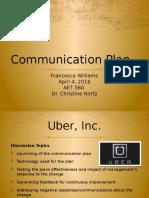 communication plan aet 560 week 6