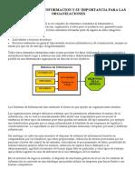 Los Sistemas de Informacion y Su Importancia Para Las Organizaciones
