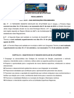 Regulamento ATUALIZADO - 3º Desafio Escolar de Atletismo
