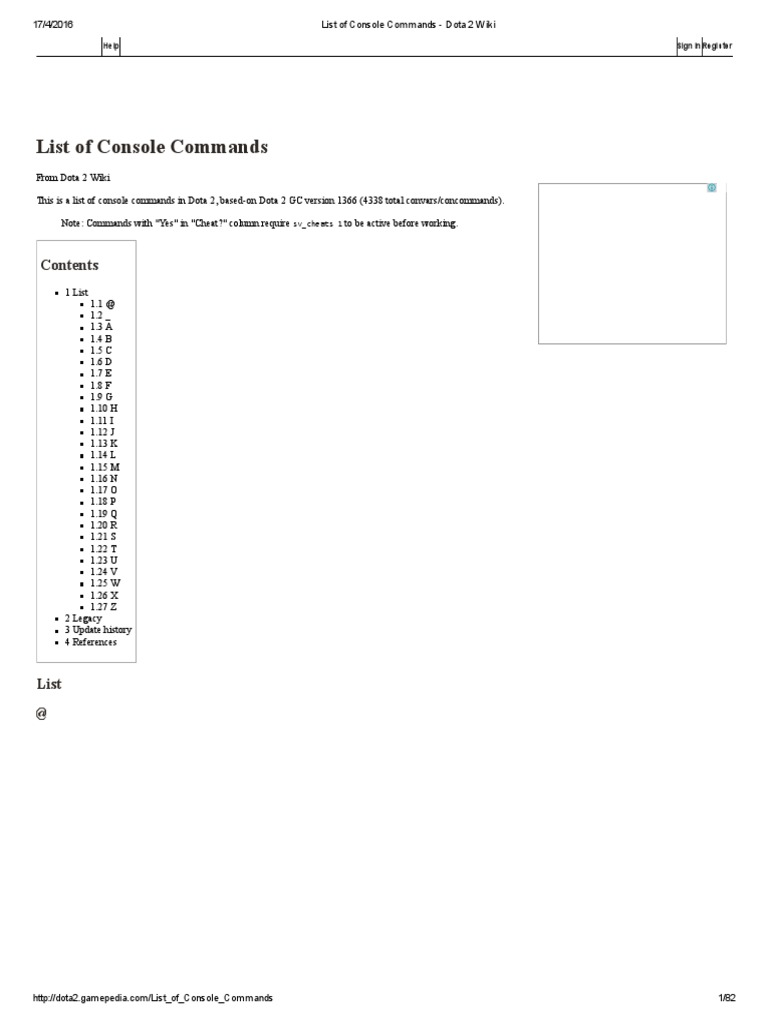 list of console commands dota 2 wiki lag command line interface