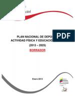 Plan Nacional Del Deporte