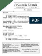 Bulletin for May 1-15, 2016