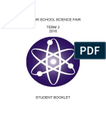 Senior Science Fair Student Booklet 2016