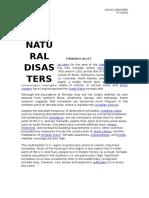 top ten natural desasters
