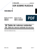 Tabla de Valores Estandares