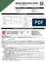 04.27.16 Mariners Minor League Report