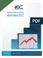 Reporte Inflacion Diciembre 2012