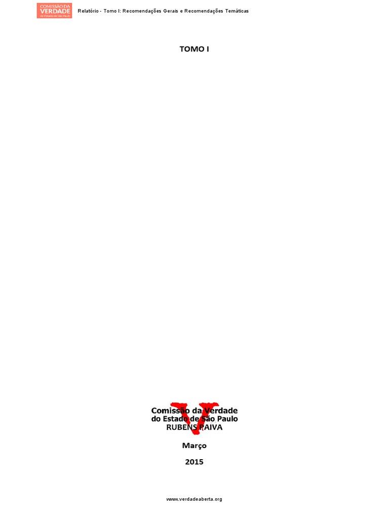 786af3041ccea relatório completo da comissão estadual da verdade de são paulo.