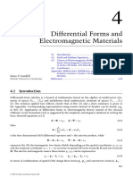 4 Differential Forms and Electromagnetic Materials