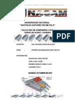 Trabajo de Diseño en Acero y Madera