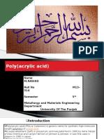 Poly(Acrylic Acid )