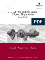 Rockwell 210 220 230 240 2 Single Speed Axle Parts Manual