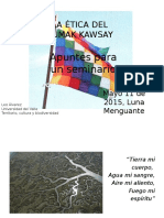 ETICA DEL SUMAK KAWSAY