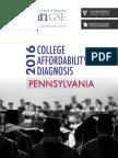 College Affordability Diagnosis 2016, Pennsylvania report