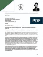 David Eby Complaint Letter