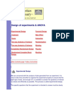 Design of Experiments & ANOVA
