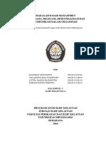 Makalah Dasar Manajemen - Wewenang, Delegasi, Dan Komunikasi
