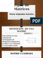 Matrices Tipos