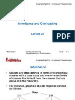 Lecture 28 - C++ Inheritance&Overloading - 06
