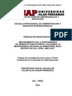 MEJORAMIENTO EN LA PERFORMANCE DE ANUNCIOS PUBLICITARIOS, UTILIZANDO LA NEUROCIENCIA APLICADA AL MARKETING, EN ICA.pdf