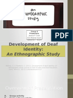 an ethnography study