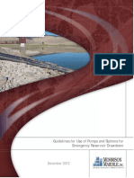 Guidelines for Use of Pumps and Siphons for Emergency Reservoir Drawdown