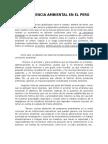 La Conciencia Ambiental en El Perú