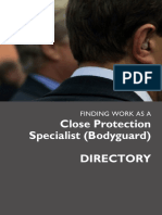 Finding Work as a Close Protection Specialist DIRECTORY